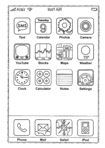 Graphical user interface for a display screen, US D644239, 2007, Apple Inc.